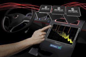 Microchip представи нови контролери за сензорни екрани в автомобила