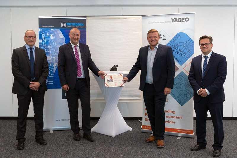 Rutronik получи награда от Yageo за дистрибуция на компоненти за автомобилостроенето