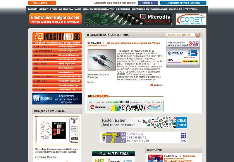 Класация на най-четените новини и продуктови оферти в Electronics-Bulgaria.com през 2017 г.