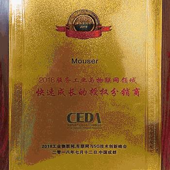 Mouser Electronics получи <strong>на</strong>града от Съюза <strong>на</strong> китайските <strong>дистрибутори</strong>