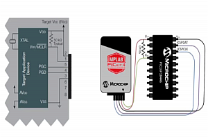 Програмиране на PIC микроконтролер с вътрешносхемен дебъгер PICkit 4
