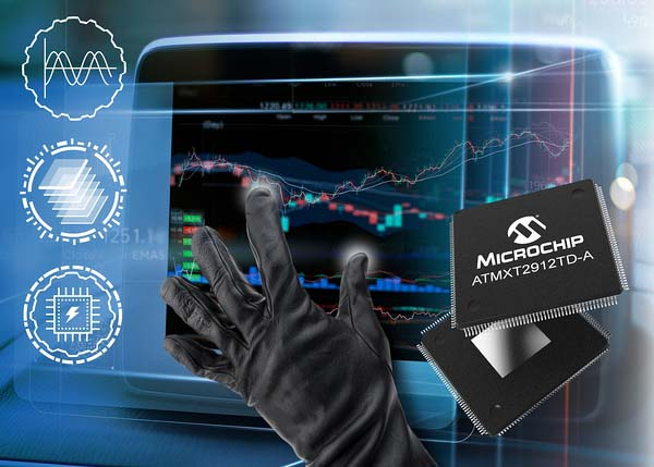 Microchip представи едночипови контролери maXTouch за 20-инчови сензорни екрани в автомобила