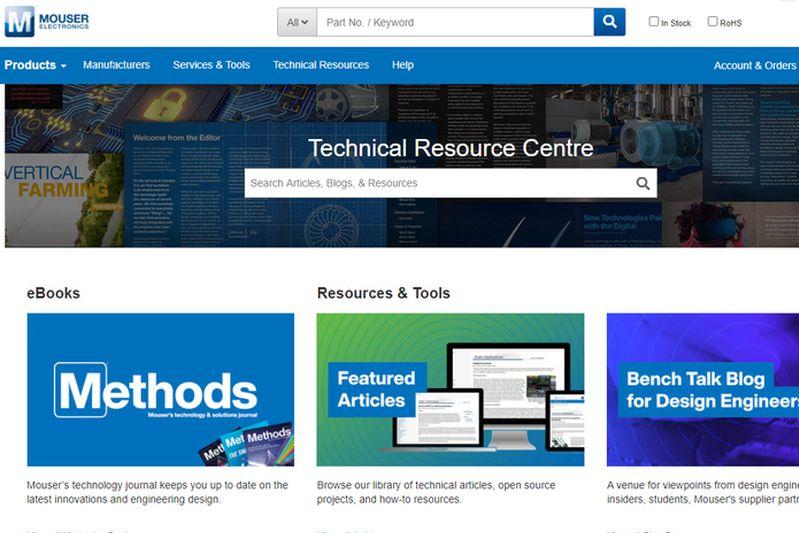 <strong>Mouser</strong> обнови своя център с техническа информация