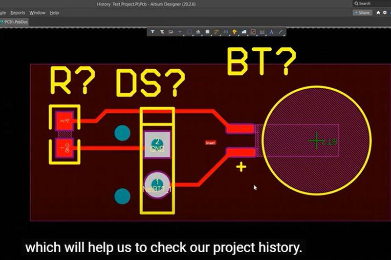 Как да видим кой какво е правил по проекта в <strong>Altium</strong> Designer