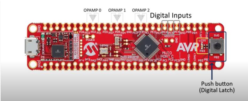 Демо платка с фърмуерни операционни усилватели ще ви запознае с PIC18-Q41 и AVR DB