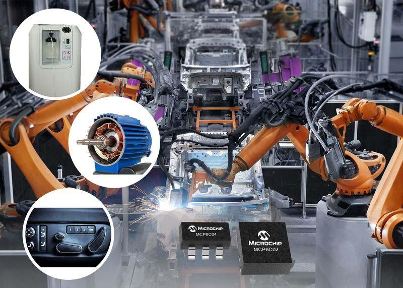 Токови усилватели MCP6C02 за автомобилни приложения