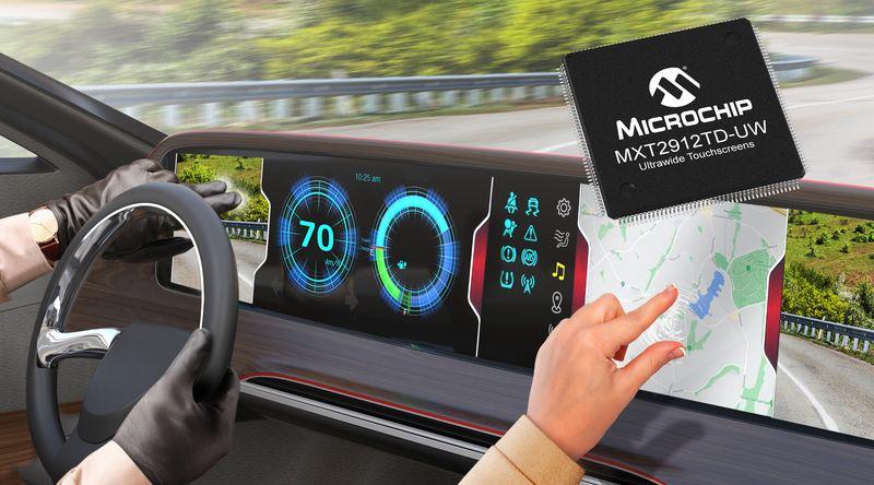 Microchip представи едночипов контролер за големи touch дисплеи в автомобилни приложения