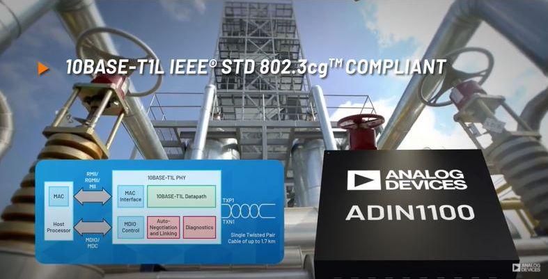 Индустриален Ethernet по една усукана двойка с чипа ADIN1100 Analog Devices