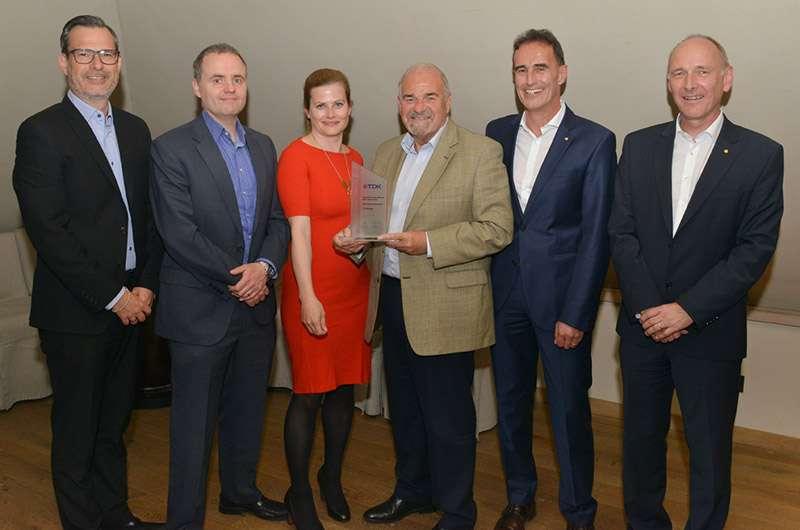 TTI с награда за дистрибуция от TDK
