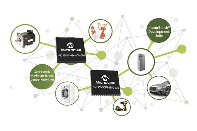 Microchip представи нови решения за управление на електродвигатели